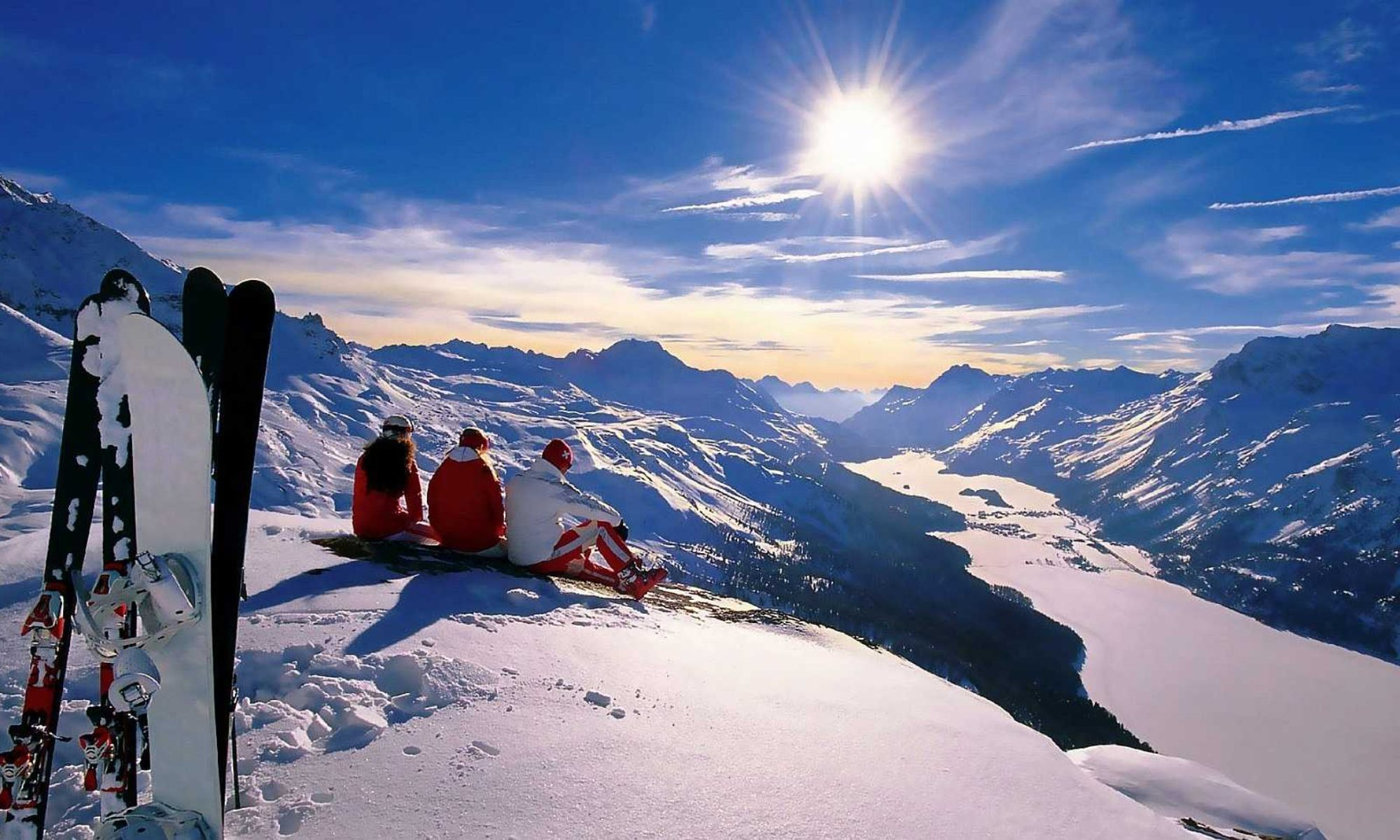 اسکی روی سقف هتل در سوئیس!