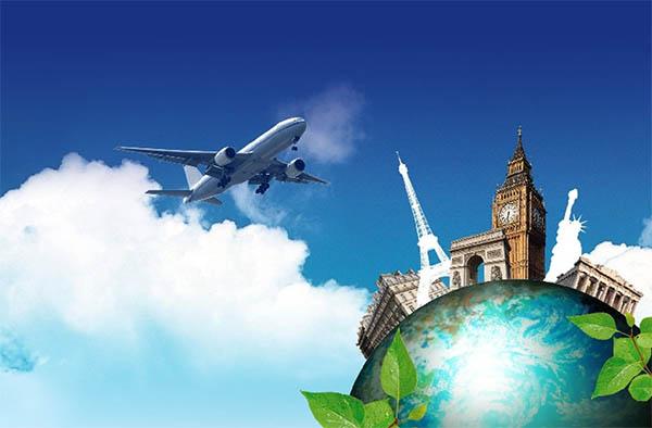 Plane Over World Sights | هواپیما بر فراز جاهای دیدنی دنیا