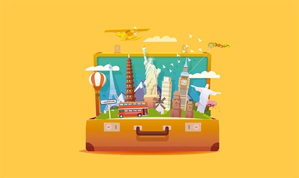 Suitcase Full of World Sights | چمدانی پر از محلهای دیدنی دنیا